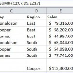 Excel SUMIF function - with sumrange