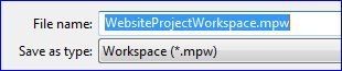 MS Project Save Workspace Dialog Box