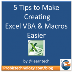 How to make creating Excel Macros & VBA Easier