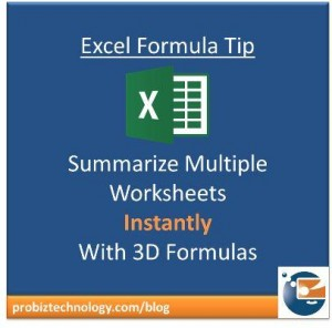 Summarize worksheets easily with 3d formulas