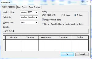 Project Calendar Timescale via ProjectTrainingAtlanta.com