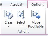 Select Excel pivot tables