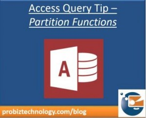 Partition function - Access Totals Queries