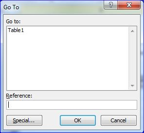 Excel Goto Box