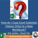 Excel Tutorial - Copying Subtotals Only