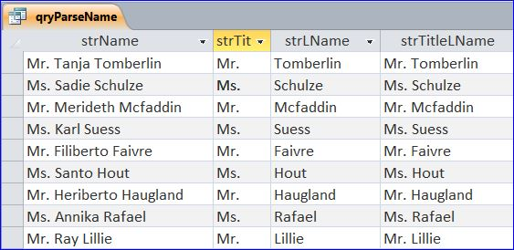 Ms Access Query Tip How To Extract Titles And Last Names