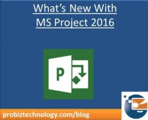 What's new with MS Project 2016