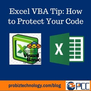 Excel VBA Tip - Protect Code