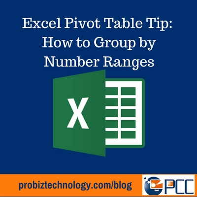 Pivot Table How To Group Data By Number Ranges