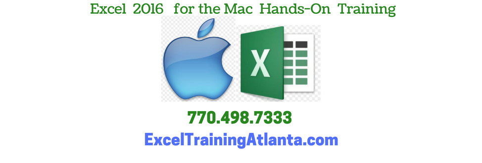 Excel MAC training Atlanta